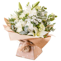 Florist choice hand-tied aqua pack bouquet