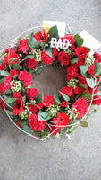 Open wreath ring funeral tribute