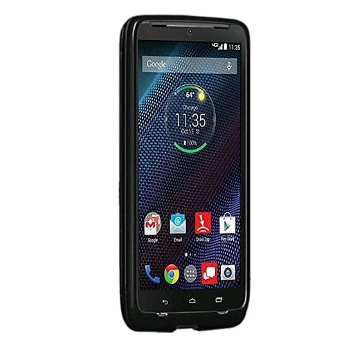 High Gloss Silicone Case for Motorola Droid Turbo - Black - Equipment Blowouts Inc. Established 2005.