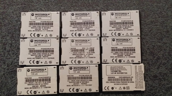 LOT OF 50 Genuine Motorola SNN5783B Battery for Q , V235 , V323 , V323i , V325 - Equipment Blowouts Inc.