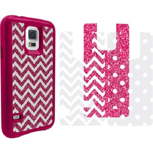 Impact Gel G5-TCP-353 Xtreme Armour Case for Samsung Galaxy S5, Pink Chevron - Equipment Blowouts Inc.