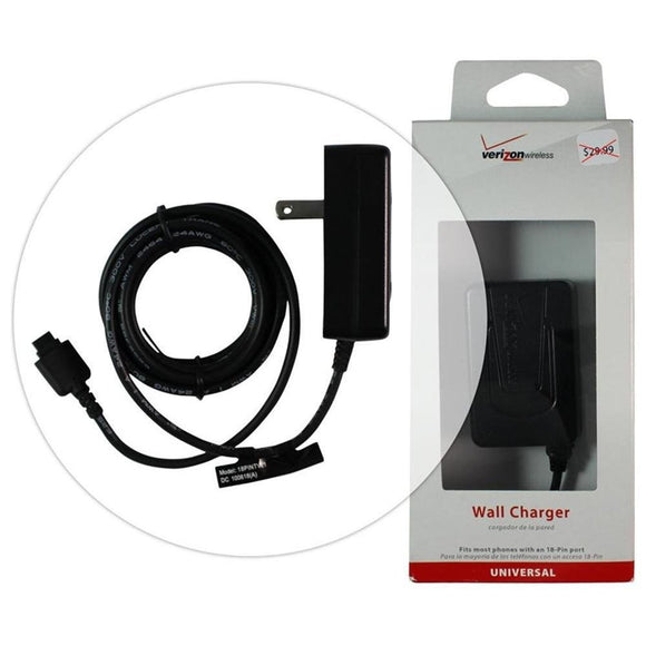 LG 18-Pin Port Wall Chargers - Black - by Verizon Wireless - Equipment Blowouts Inc.
