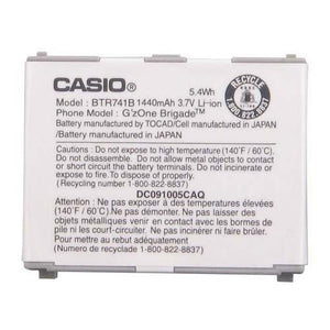 Casio BTR741B BTR741 Battery G'zOne Brigade Original OEM - Non-Retail Packaging - White - Equipment Blowouts Inc.