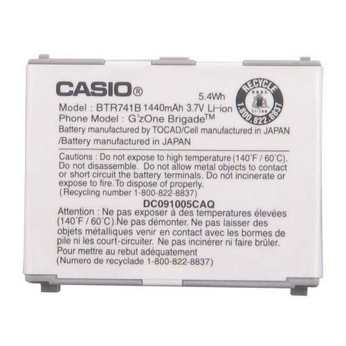 Casio BTR741B BTR741 Battery G'zOne Brigade Original OEM - Non-Retail Packaging - White - Equipment Blowouts Inc. Established 2005.