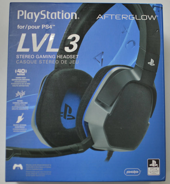 PDP Sony Afterglow LVL 3 Stereo Gaming Headset 051-032, Black - Equipment Blowouts Inc.