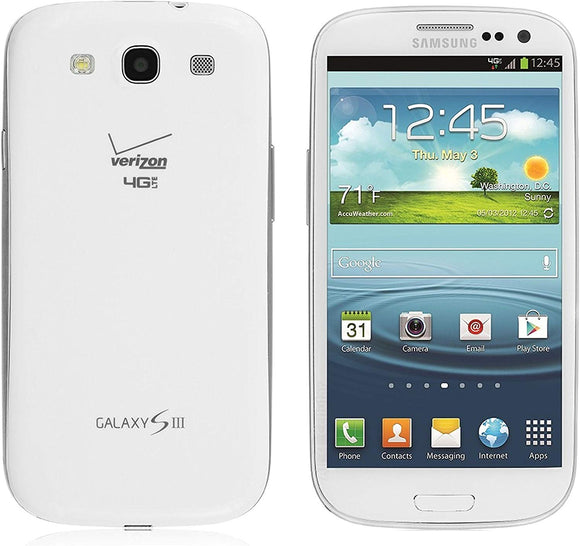 Samsung Galaxy S3 SCH-I535 Verizon Phone, 16GB, Marble White - Equipment Blowouts Inc. Established 2005.