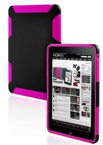 Incipio Silicrylic Case for iPad 1 Dual Protection Gel Skin Shell Pink/Black