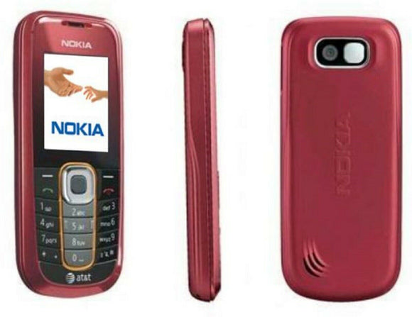 Nokia 2600 Classic AT&T GSM Candybar red Cellphone - Equipment Blowouts Inc.