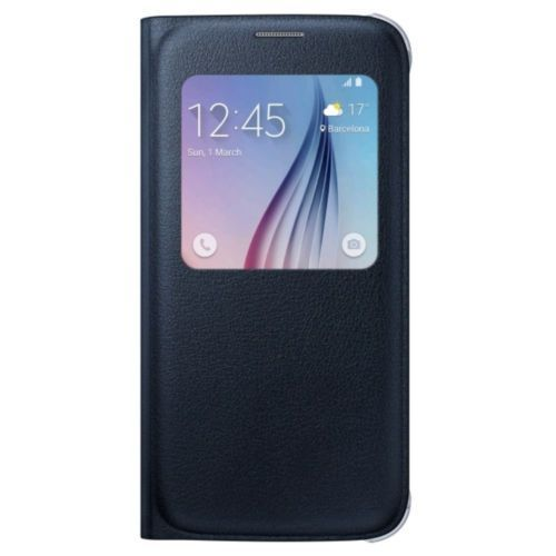 Samsung S-View Flip Cover for Samsung Galaxy S6 - Black Sapphire - Equipment Blowouts Inc.
