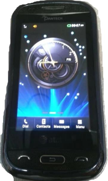 Pantech Laser  P9050 Blue AT&T Cell Phone