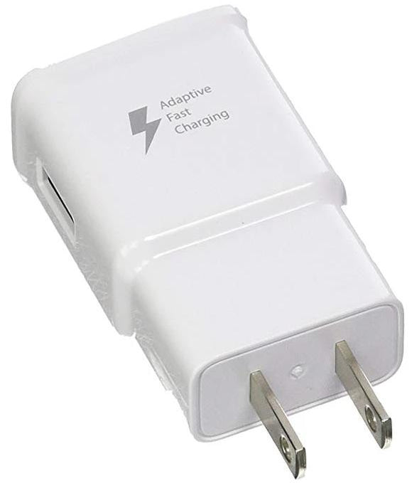 Samsung EP-TA20JWE Adaptive Fast Charging Wall Charger for Galaxy Note 4, Edge, S6/S6 Edge/ Edge+, S6 Active, Note 5 - White - Bulk Packaging - Equipment Blowouts Inc. Established 2005.