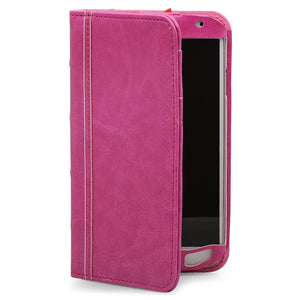 Aduro BookCase Folio & Wallet Case for Samsung Galaxy S4 -Pink - Equipment Blowouts Inc.