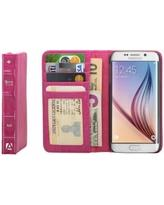 Aduro BookCase Folio & Wallet Case for Samsung Galaxy S6 - Pink - Equipment Blowouts Inc.