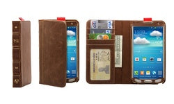 Aduro BookCase Folio & Wallet Case for Samsung Galaxy Note 3 - Brown - Equipment Blowouts Inc.