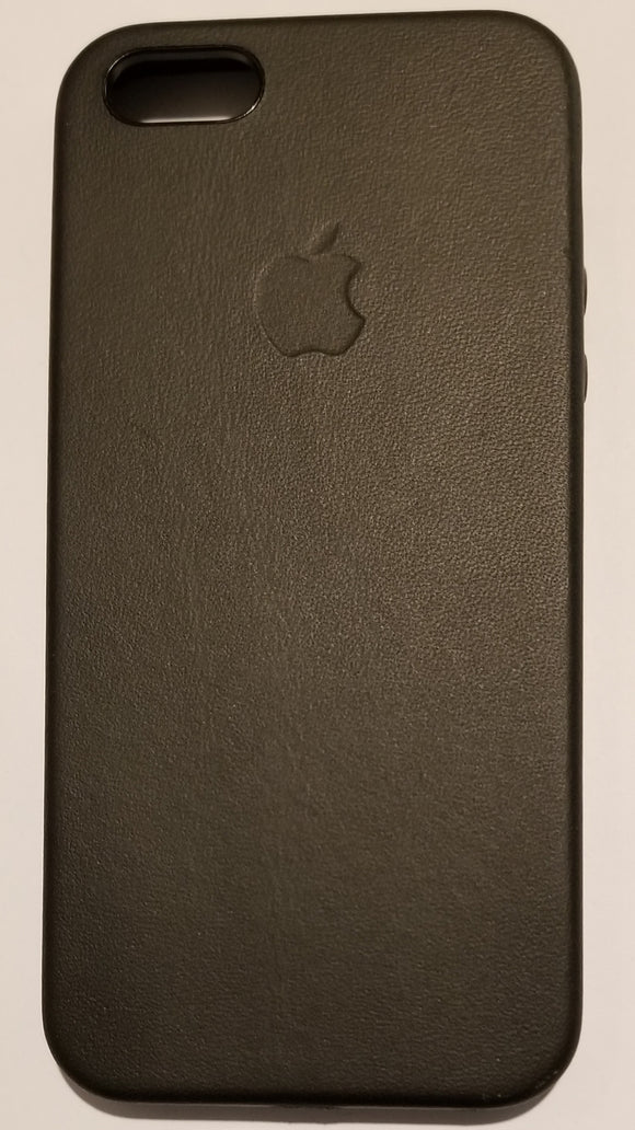 Apple Hard Case with Natural Leather Interior for Iphone 5/5S - Black - Equipment Blowouts Inc.