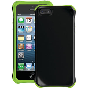 Ballistic Aspira Series Case for Apple iPhone 5 (Black/Lime Green)- AP1085-A005 - Equipment Blowouts Inc. Established 2005.
