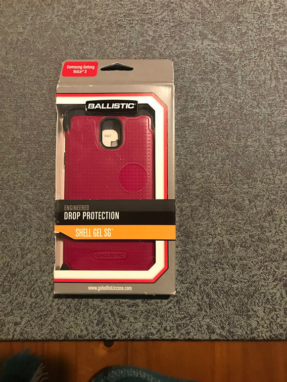 Ballistic SG Carrying Case for Samsung Galaxy Note 3 Retail Packaging Black/pink - Equipment Blowouts Inc.