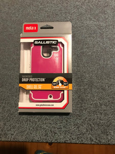 Ballistic SG Case for Motorola Moto X - Retail Packaging - Pink/white - Equipment Blowouts Inc.