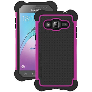 Ballistic Tough Jacket Case for Samsung Galaxy J3 - Black/Pink - Equipment Blowouts Inc.