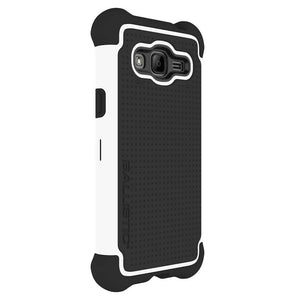 Ballistic Tough Jacket Case for Samsung Galaxy J3 - Black/White - Equipment Blowouts Inc.