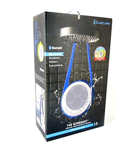 Blueflame bf4083 The Slingshot Bluetooth Speaker Water Resistant Bluetooth 2.1 Bluetooth Shower Speaker, Built-In Microphone - Equipment Blowouts Inc.