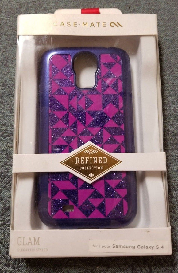 CaseMate Refined Collection Glam for  Samsung Galaxy S 4 - Mulitcolored Purple - Equipment Blowouts Inc. Established 2005.