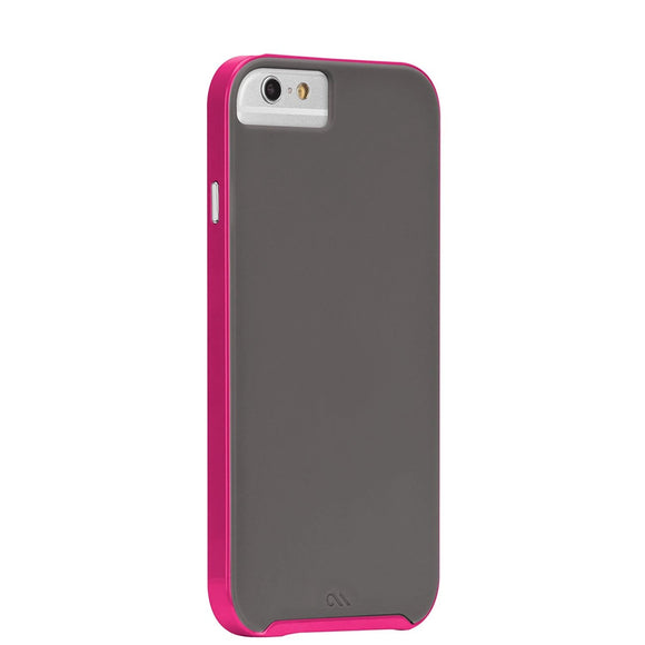 Case-Mate Slim Tough Case for iPhone 8 / 7 / 6 / 6s - Grey/Pink - Equipment Blowouts Inc.