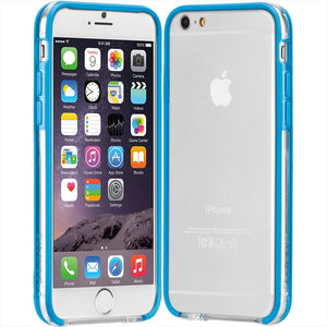 Case-Mate Tough Frame for iPhone 6/6s - Clear/Blue - Equipment Blowouts Inc.