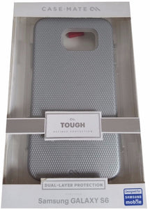 Case-Mate Tough Dual Layer Protection Case for Samsung Galaxy S6 - Silver - Equipment Blowouts Inc.