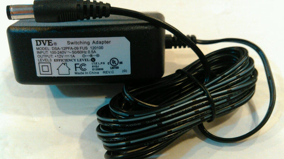 DVE DSA-12PFA-09 FUS 120100 12V 1A Switching Power Adapter Supply Ac Plug - Equipment Blowouts Inc. Established 2005.