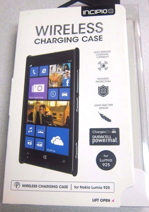 Nokia Lumia 925 Wireless Charging Case - Black- by Incipio - Equipment Blowouts Inc.