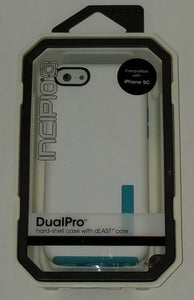 Iphone 5c Dual Pro Hardshell case with dlast core White and teal (BY INCIPIO) - Equipment Blowouts Inc. Established 2005.
