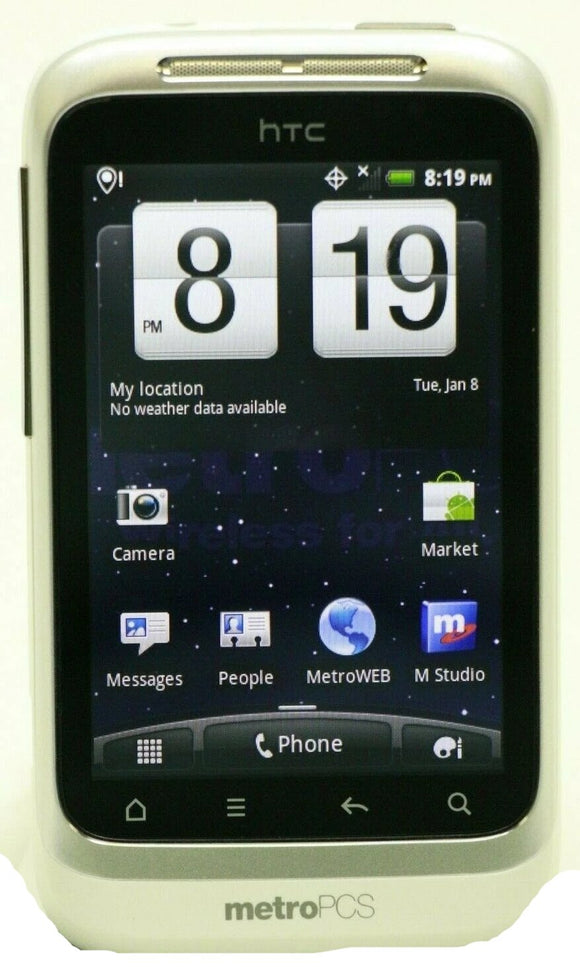 HTC Wildfire S Android Smartphone (Metro PCS) HTC-PG76210 - Equipment Blowouts Inc. Established 2005.