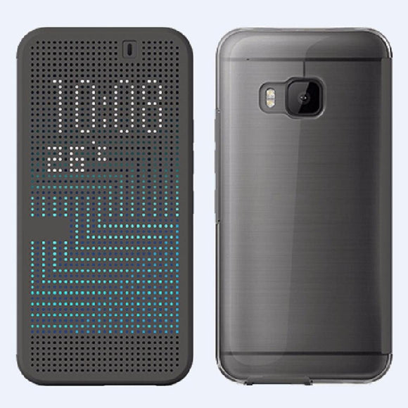 HTC Dot View Ice Premium Case for HTC One M9 - Black - Equipment Blowouts Inc.