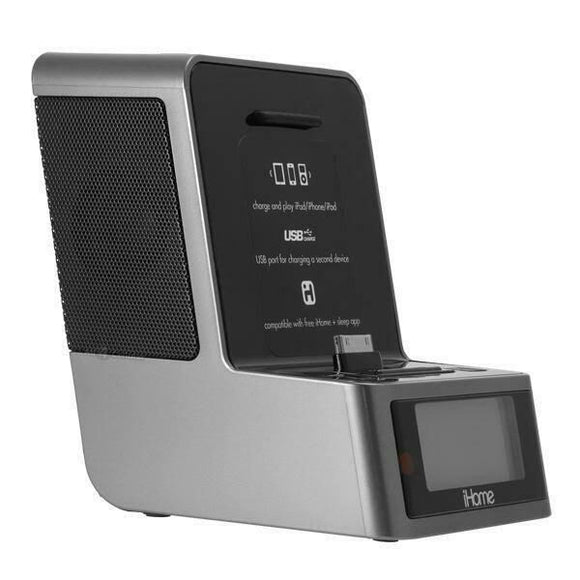 Apple Dock Stereo- ID37 Clock Radio  - Alarm - 30 PIN / ipod, iphone, iphone - Equipment Blowouts Inc. Established 2005.