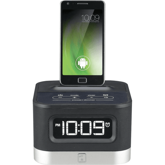 IHome Android Dock Stereo- IC50   Alarm Clock Designed for Android phones - Equipment Blowouts Inc.