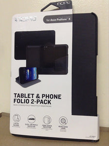 INCIPIO Tablet and Phone Folio 2-pack for the ASUS Padfone X - Black - Equipment Blowouts Inc.