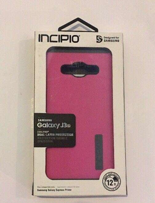 Incipio Dualpro Case for Samsung Galaxy J3 and Express Prime - Pink - Equipment Blowouts Inc.