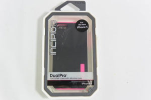 Incipio Dualpro Case for iPhone 5/5s/SE - Black/Pink - Equipment Blowouts Inc.
