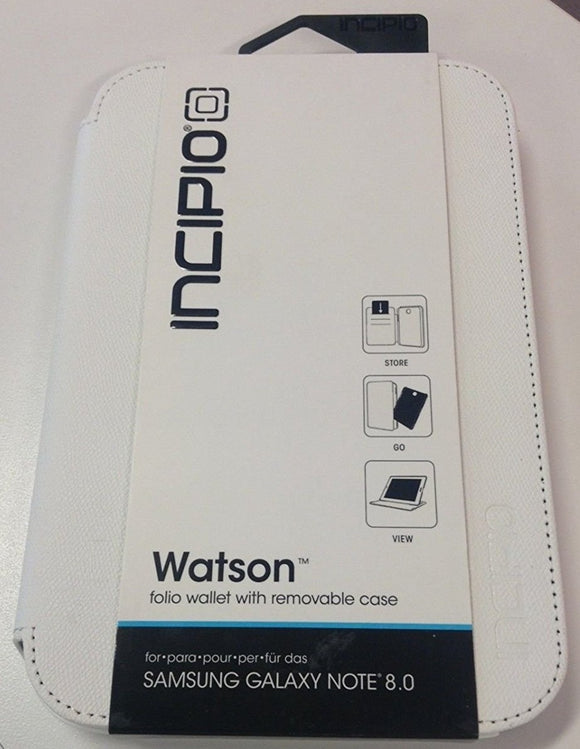 Incipio Watson Wallet Folio Case ID & Credit Cover for Galaxy Note 8.0 - WHITE - Equipment Blowouts Inc. Established 2005.