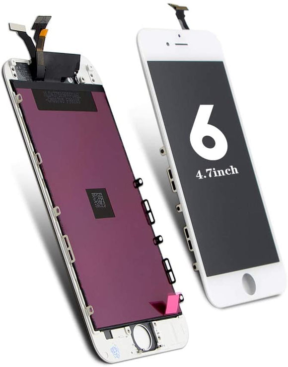 For iPhone 6 Screen Replacement White, LCD Display & Touch Screen Digitizer Frame Assembly Set  for A1549, A1586, A1589 (4.7 inch)
