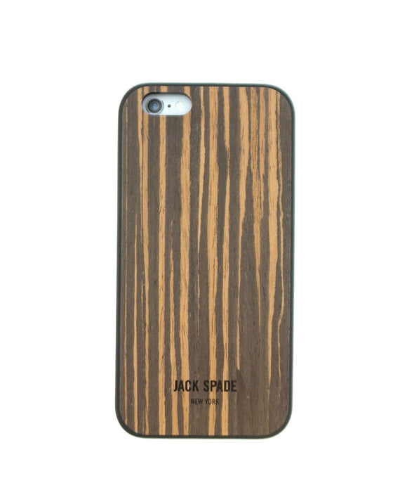 Jack Spade Wood Veneer Case for iPhone 6 - Wood Ebony - Equipment Blowouts Inc.