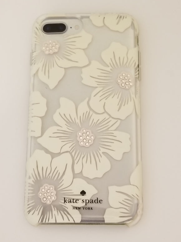 Kate Spade Case iPhone 7/8  Plus Clear Hollyhock Floral Jeweled - Equipment Blowouts Inc. Established 2005.