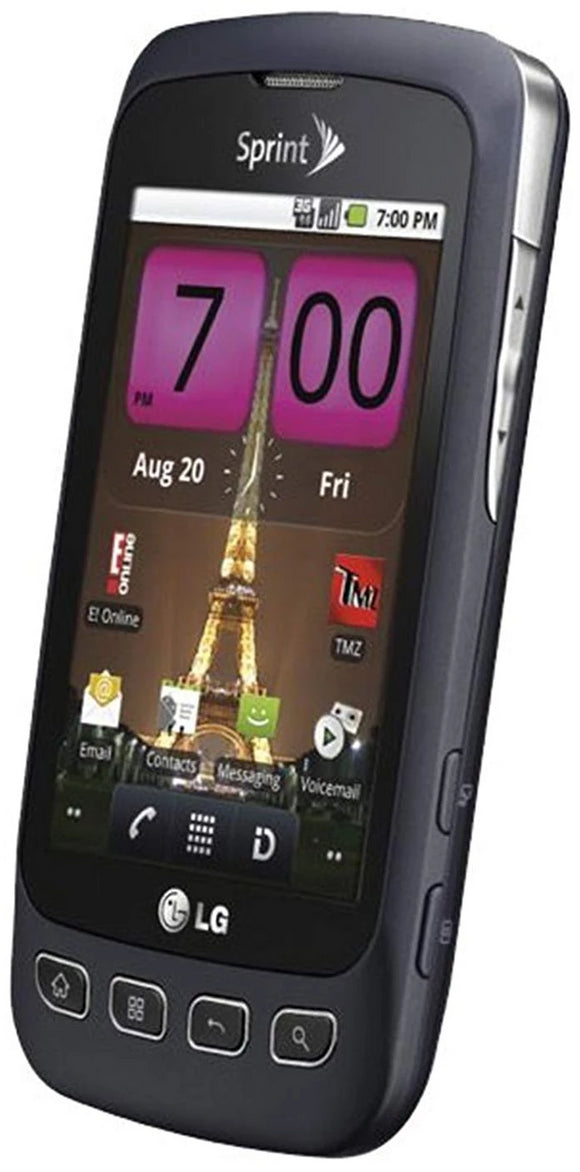 Lg Optimus S Android 2.2 Sprint Phone Grey Touchscreen Smart Phone - Equipment Blowouts Inc.