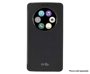 LG Quck Circle Case for LG G3 - Retail Packaging - Titanium Black - Equipment Blowouts Inc. Established 2005.