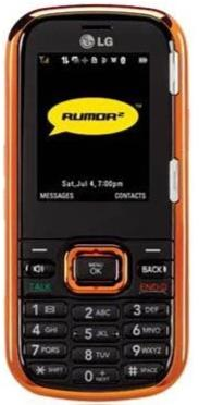 LG LX265 Rumor 2 2in 1.3 MP Slide Mobile Phone - Sprint Network, Orange