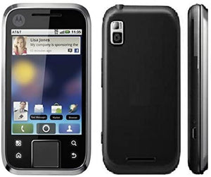 Motorola Flipside MB508 AT&T GSM Phone with Android 2.1 OS, MOTOBLUR, Touchscreen, QWERTY Keyboard, 3MP Camera, GPS and Wi-Fi - Black