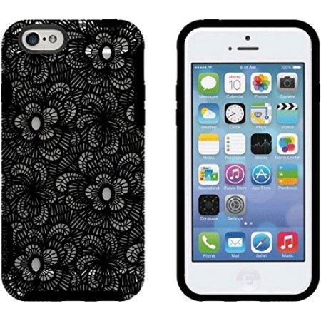 M-Edge Glimpse case for iPhone 6 and 6S - Black Lace - Equipment Blowouts Inc.