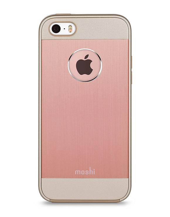 Moshi iGlaze Armour Aluminum iPhone 5/5s/SE Case - Golden Rose - Equipment Blowouts Inc.