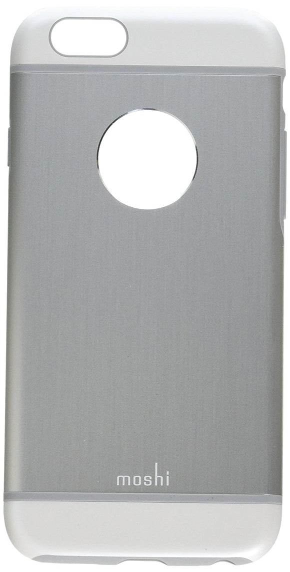 Moshi iGlaze Armour Premium Aluminum Case for iPhone 6/6s (Jet Silver) - Equipment Blowouts Inc.